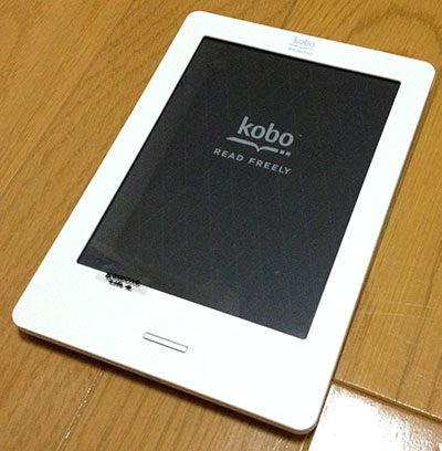 kobo Touch レビュー 1 | 到着もサーバーダウン?によりセットアップできず