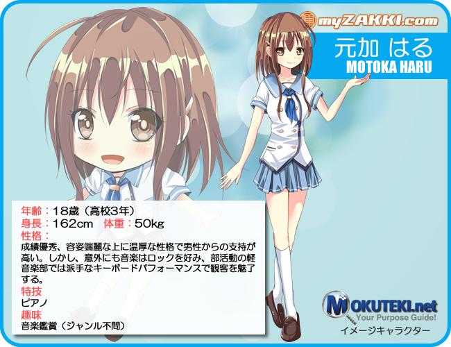 マイ雑記ドットコム キャラクター紹介 No.001「元加 はる(もとか はる)」
