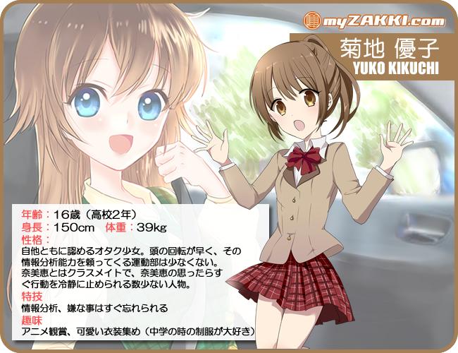 マイ雑記ドットコム キャラクター紹介 No.008「菊地 優子(きくち ゆうこ)」