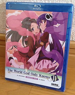 アニメ【北米版 神のみぞ知るセカイII Blu-ray】個人輸入で買ってみた