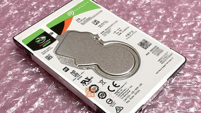 ST2000LX001を購入!速度に不満なくノートPCのSSDの容量不足から解放